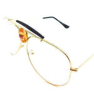 PANTHER POWER TOPAZ CLEAR AVIATOR GLASSES NEW